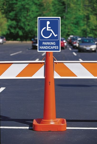 Panneau parking Handicapés avec texte - Panneaux place handicapé