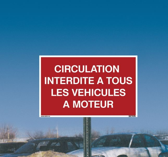 Panneau Circulation interdite à tous les véhicules à moteur - Panneaux de circulation Interdiction