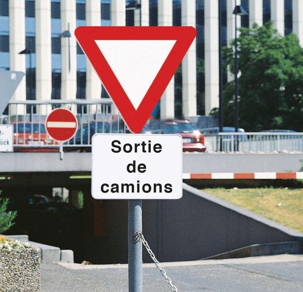 Panonceau Sortie de camions - Seton