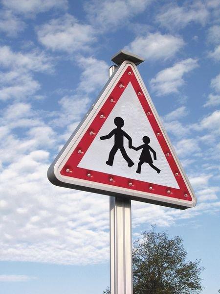 Panneau clignotant Attention aux enfants - Seton