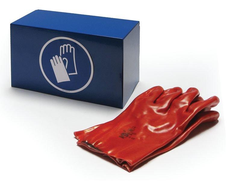 Boîte de rangement EPI en acier laqué pour gants