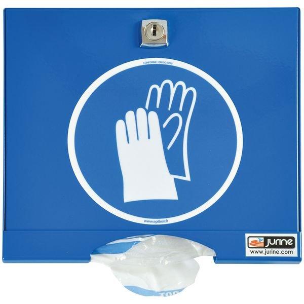 Distributeur pour gants en acier laqué