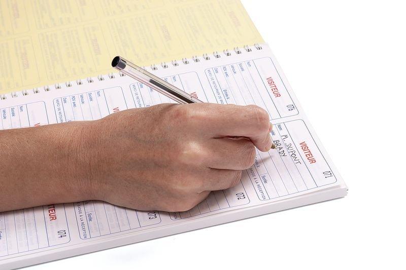 Kit de 300 réassorts pour registre des visiteurs - Registres de sécurité