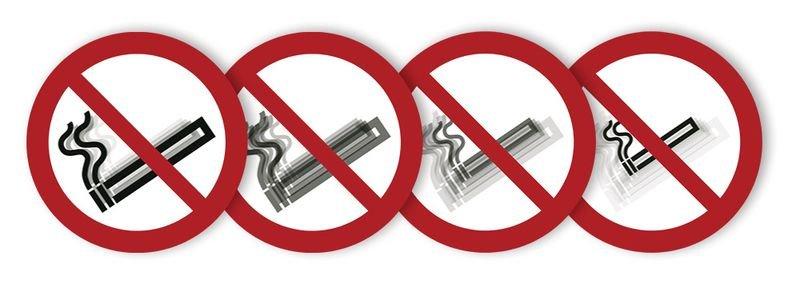 Autocollant rigide animé SETON MOTION® Interdiction de fumer