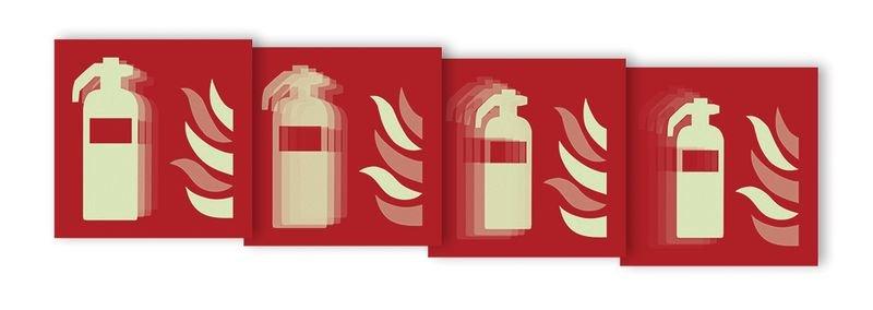 Autocollant rigide animé SETON MOTION® Extincteur d'incendie