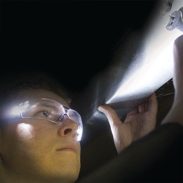 Lunettes de protection avec LEDs Stealth 8000 - Lunettes de sécurité