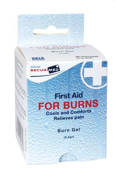 Compresses et dosettes pour le traitement des brûlures