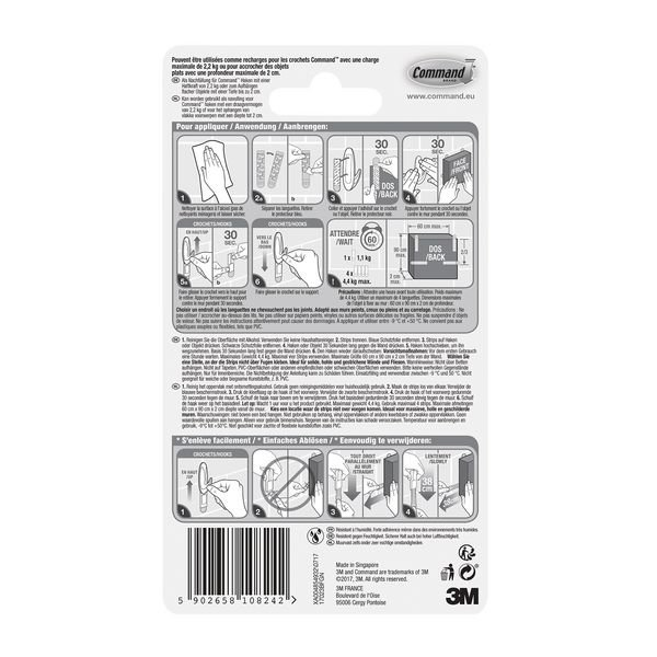 Languettes de fixation milieux humides - 3M™ Command™ - Adhésifs double face