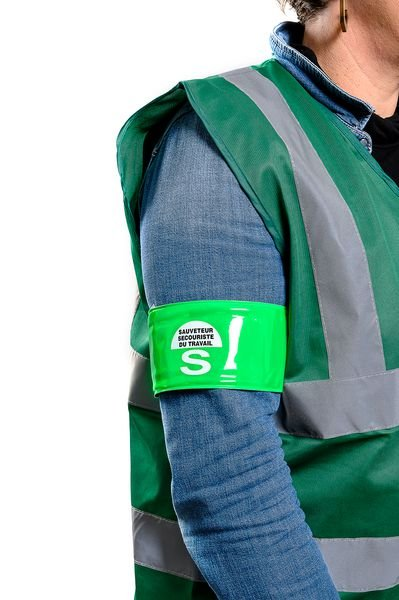Brassard microprisme SST - Sauveteur Secouriste du Travail - Seton