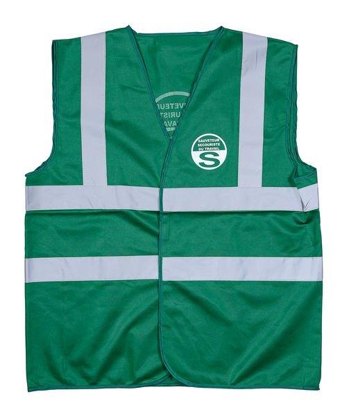 Gilet SST vert - Sauveteur Secouriste du Travail - Seton