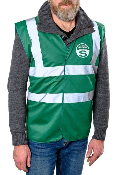 Gilet SST vert - Sauveteur Secouriste du Travail - Gilets haute visibilité