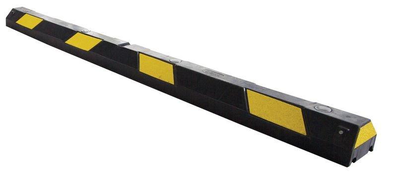 Butée de parking flexible noir et jaune pour sols irréguliers
