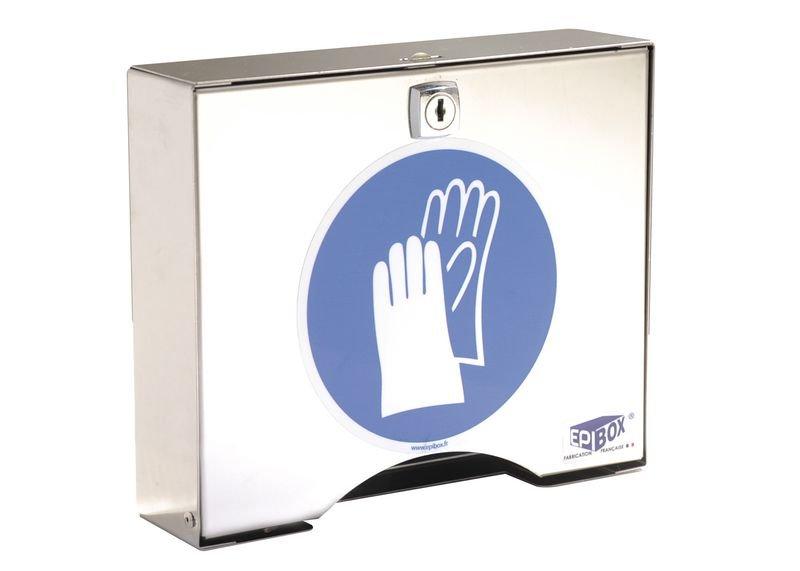 Boîte à clé en inox pour gants