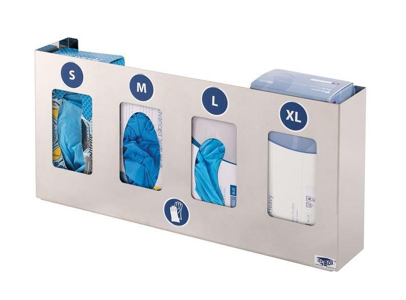 Distributeur en inox pour gants jetables