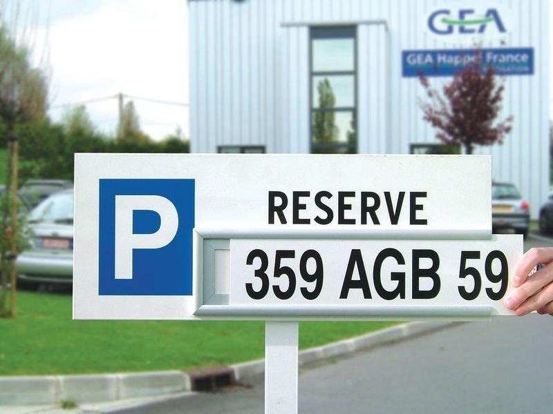 Panneau parking Réservé personnalisable - Aluminium - Seton