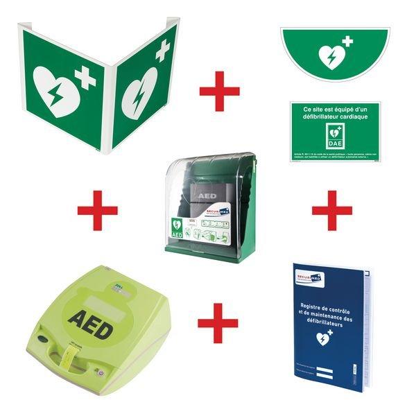 Kit défibrillateur ZOLL AED+ semi-automatique avec armoire murale