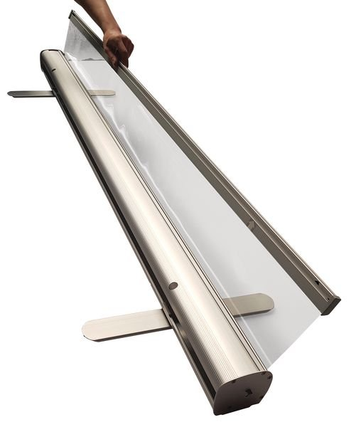 Roll-up transparent enroulable
