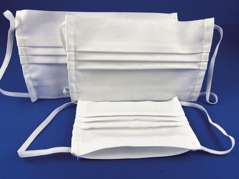 Masques lavables et réutilisables en tissu blanc OEKO-TEX® - Masques chirurgicaux