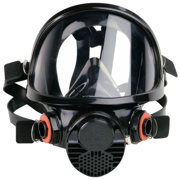 Masque complet de protection respiratoire bi-filtre confortable