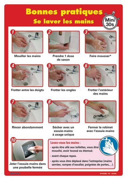 Affiche - Se laver les mains