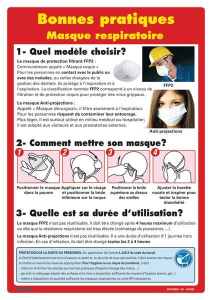 Affiche - Masque respiratoire