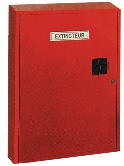 Coffret métallique pour extincteurs