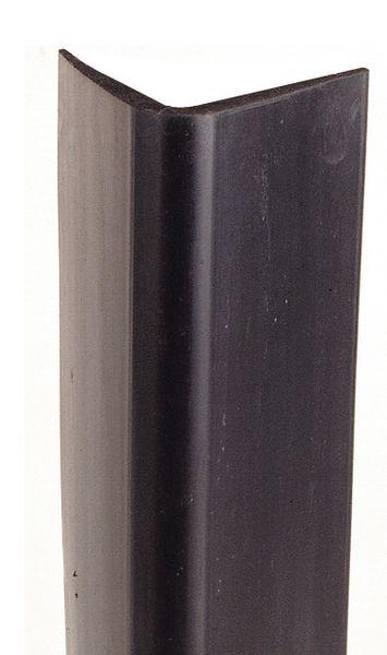 Cornières de protection d'angle en néoprène noir lisse ou strié