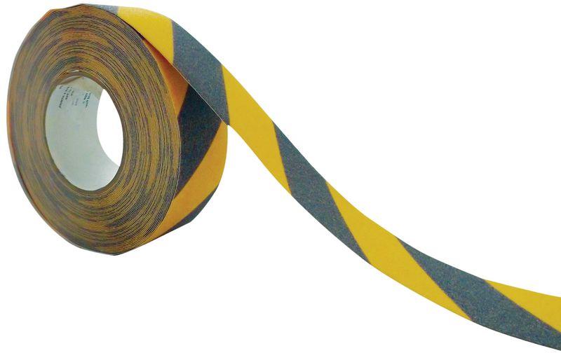 Bande antidérapante adhésive noir et jaune SetonWalk™ en rouleau