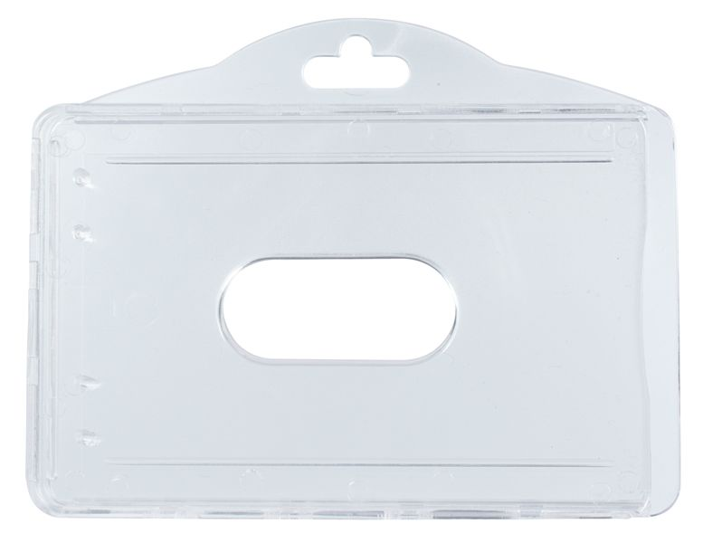 Porte-badge pour 2 badges, en polycarbonate rigide anti-UV