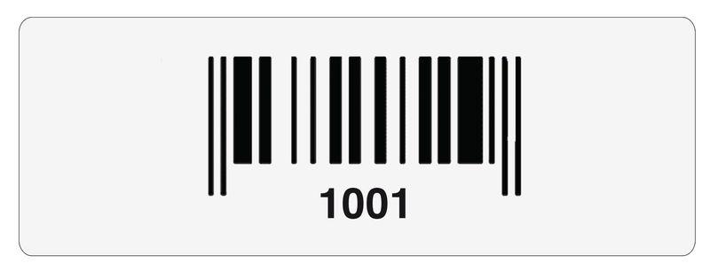 Etiquettes code à barres en polyester laminé avec numérotation