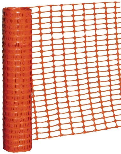 Filet de chantier en plastique orange - rouleau de 50m