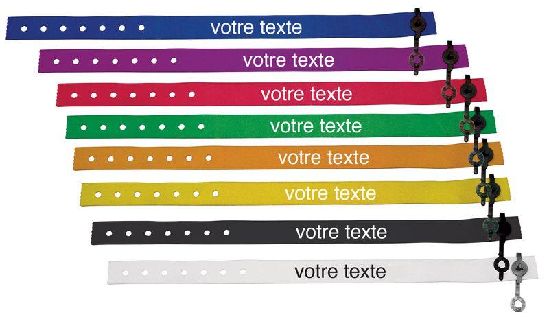 Bracelet de contrôle en tissu personnalisable