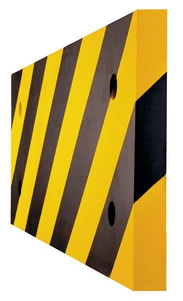 Lisses de protection pour poteaux en polyuréthane noirs et jaunes