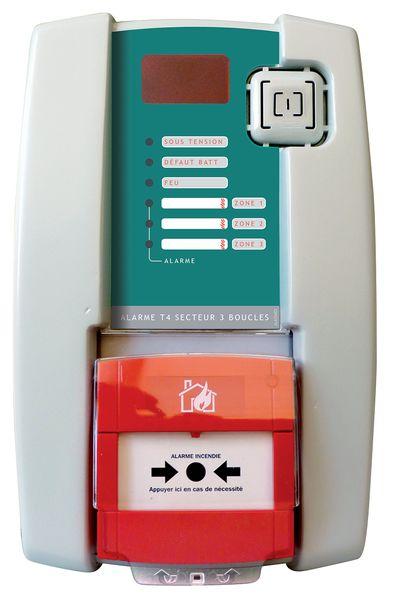 Centrale d'alarme type 4 filaire à déclencheur manuel et sirène