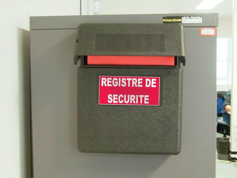 Coffre à registre de sécurité en polyéthylène à plombage possible