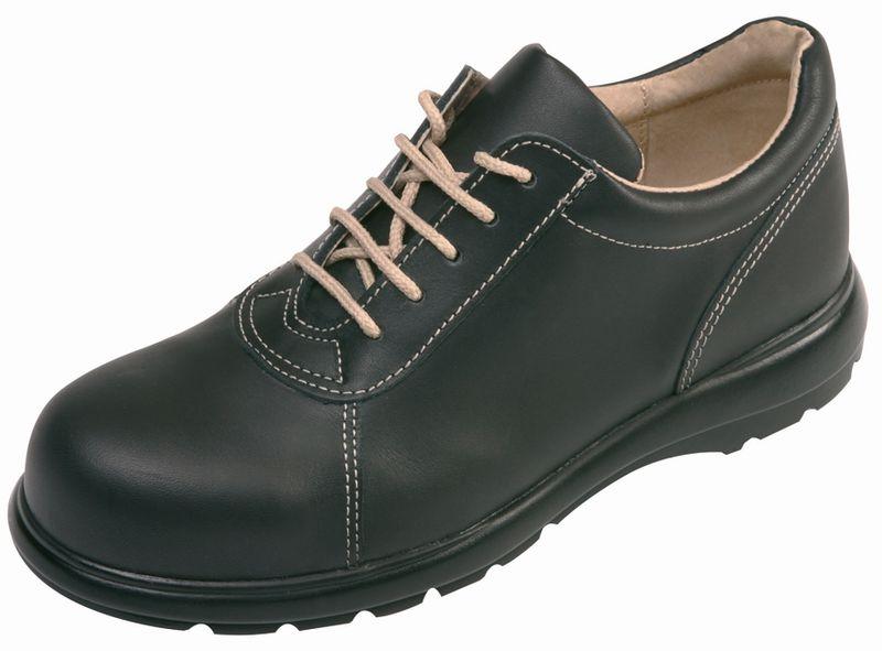 Chaussures de sécurité femme en cuir, avec embout métallique, classe S2