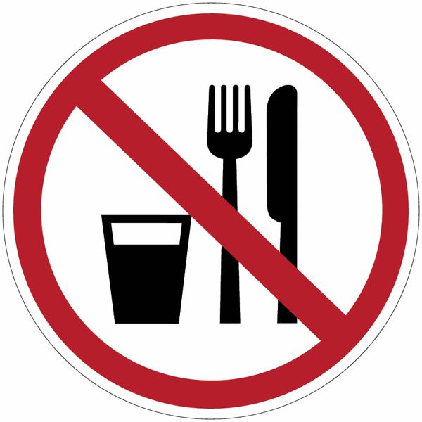panneau en polycarbonate interdiction de manger ou de. Black Bedroom Furniture Sets. Home Design Ideas