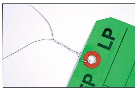 Liens de fixation pour plaquettes en coton, fer ou plastique