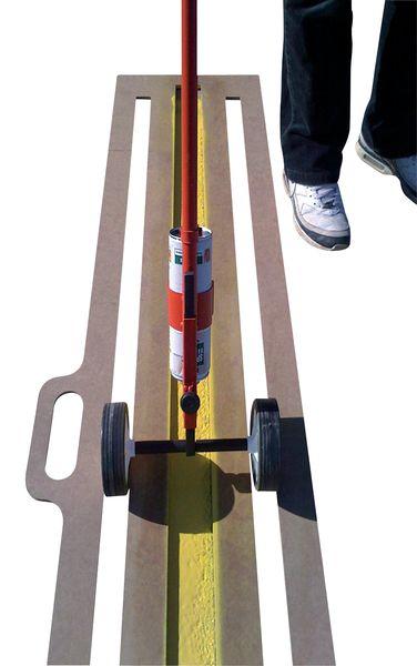 Kit pochoir ligne, peinture bombe aérosol et canne de traçage