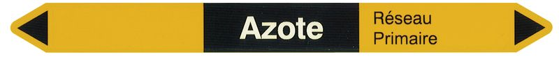 """Marqueurs pour canalisations hospitalières """"Azote"""" (Gaz)"""