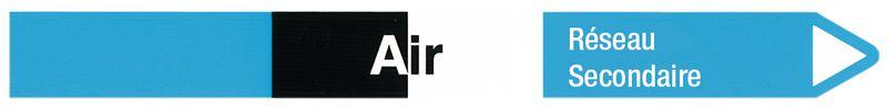 """Marqueurs pour canalisations hospitalières """"Air"""" (Air)"""