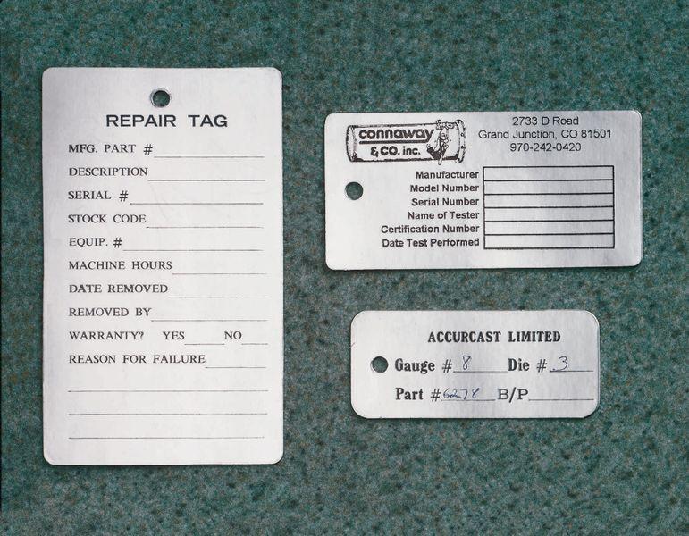 Plaquettes en aluminium non adhésif pré-imprimées
