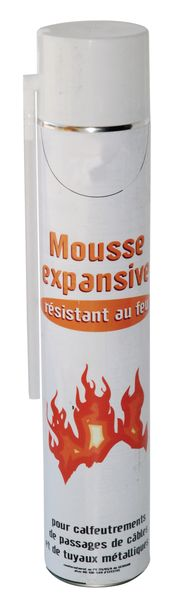 Mousse coupe feu pour calfeutrement de tuyauteries ou câbles