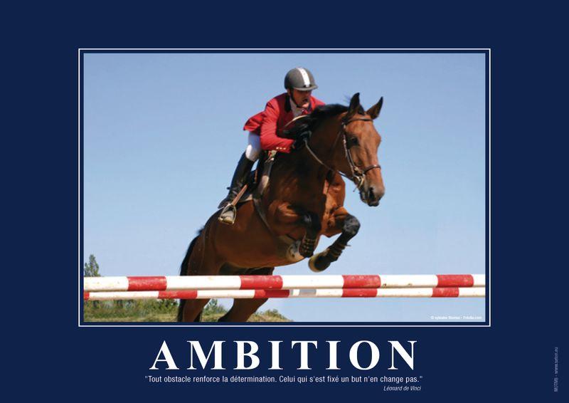 Poster de motivation plastifié - Ambition