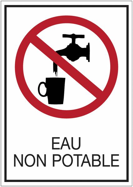 Panneaux de signalisation de s curit standards eau non for Eau de pluie potable ou non