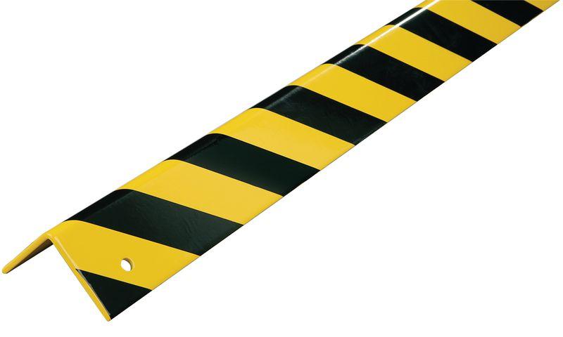 Cornières et lisses de protection en aluminium noir et jaune