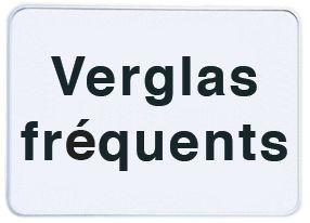 Panonceau de signalisation - Verglas fréquent