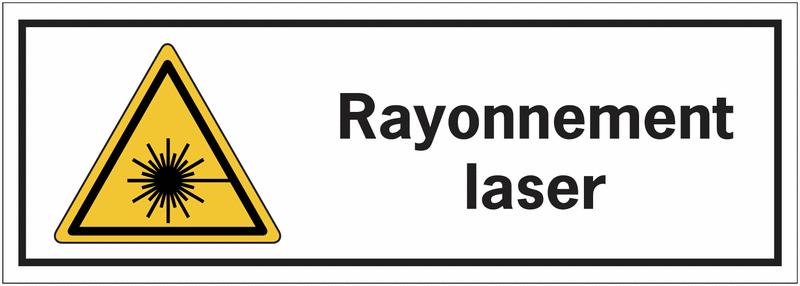 panneaux de danger rectangulaires rayonnement laser seton fr. Black Bedroom Furniture Sets. Home Design Ideas