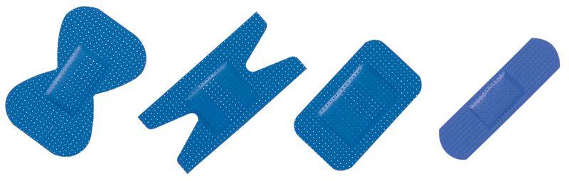 Pansements détectables assortis bleus