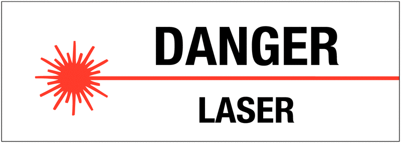autocollant de danger danger laser seton fr. Black Bedroom Furniture Sets. Home Design Ideas
